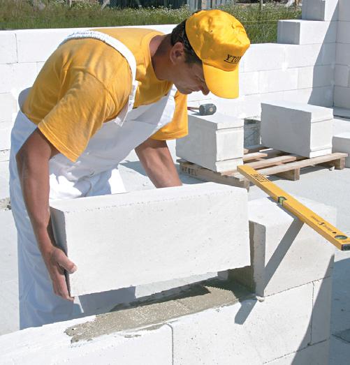 Работа със зидарски блокчета Итонг